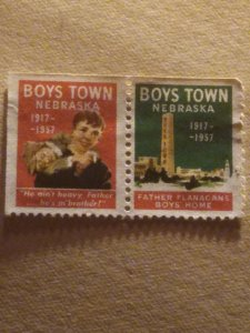 US  Boys town pair mint