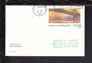 US Judy Resnik 1988 Cancel Cover BIN
