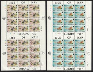 Isle of Man Sailing Pearls Cattle Europa Folklore 2 Double Sheets RAR 1981