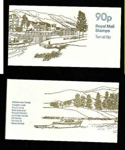 Great Britain BK393-90p complete NH booklet #4-Caledonian Canal-
