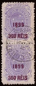 Brazil Scott 153 Pair (1899) Used F-VF, CV $29.00 C