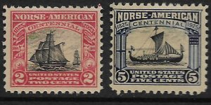 US 620-621   MINT HINGED, NORSE AMERICAN SET