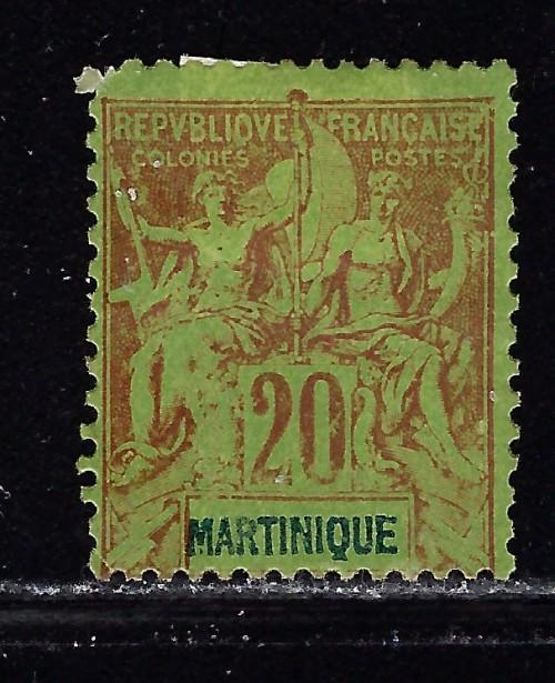 Martinique 42 Heavy hinged from 1892-1906 set