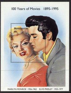 Montserrat MNH S/S 861 Elvis Presley & Marilyn Monroe SCV 7.50