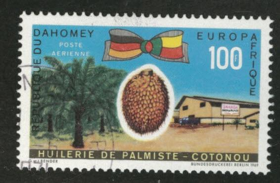 Dahomey Scott C105 used CTO 1969 Air Post stamp