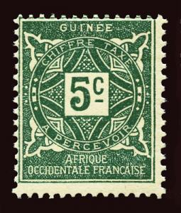 FRENCH GUINEA Scott #J16 year 1914 unused part OG H
