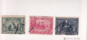 US: Sc #328-330, Used (S19115)