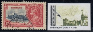 Bermuda, SG 94m, used (small crease) Bird by Turret variety
