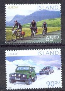 Iceland Sc# 1019-1020 MNH 2004 Europa