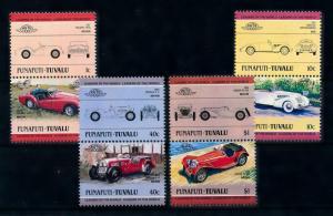 [76429] Tuvalu Funafuti 1985 Classic Cars Triumph Jaguar Morgan 4 Pairs MNH