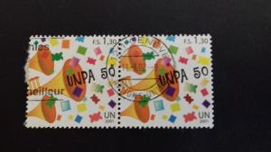 United nations Geneva 2001 50th Anniversary of United Nations Postal Adm