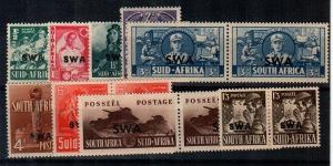 South West Africa Scott 135-43 Mint hinged (Catalog Value $63.95)