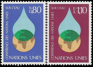 UN Geneva 1977 #65-66 Mint NH