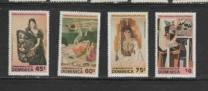 DOMINICA #739-742 1981 PICASSO PAINTINGS MINT VF NH O.G