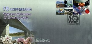 EL SALVADOR DIPLOMATIC RELATIONS WITH JAPAN Sc 1637-1638 FDC 2005