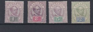 SARAWAK  1888 - 97 VARIOUS VALUES TO 12C M H CAT £80