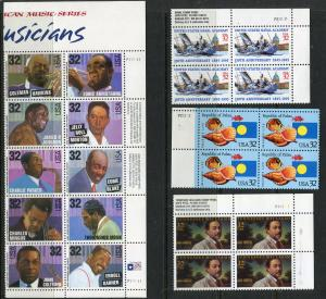 US Postage Stamps (YEAR 1995)  Blocks/4 FACE=$7.04