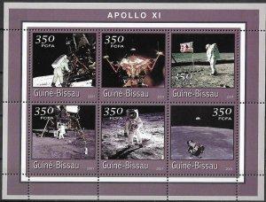Guinea-Bissau MNH S/S Apollo 11 Space 2001