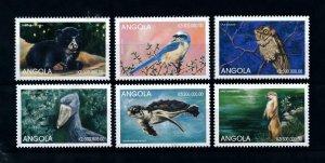 [101614] Angola 1999 Wild life bear birds owl turtle From sheet MNH