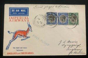 1932 Moshi Tanganyika British KUT First Flight Cover FFC To London England