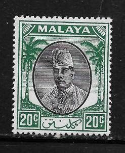 MALAYA-SELANGOR , 58, MINT HINGED,  SULTAN IBRAHIM
