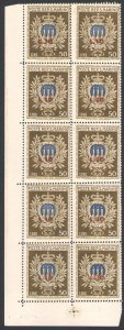 1946 San Marino, Sheetlet Assistant, Bf N°15, Perfect Without Fold , MNH