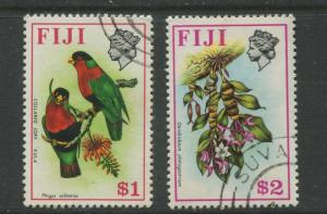 Fiji - Scott 319-320 - QEII Difinitive Issue -1971- FU - 2 Stamps $1 & $2