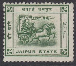 INDIA JAIPUR 1905-08 2a SG12 fine mint hinged..............................54799