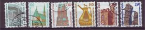 J20737 Jlstamps 1987-90 berlin germany hv,s of set used #9n552-7 historic sites