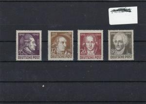 GERMANY 1949 GOETHE ISSUES UNMOUNTED MINT, FULL GUM  . REF 277