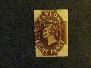 Ceylon #54 used short perfs c203 93
