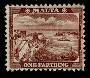 MALTA QV SG31, ¼d brown, LH MINT.