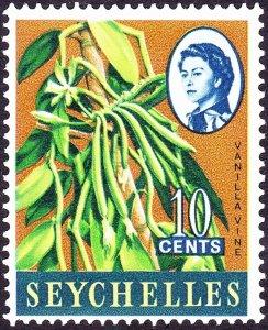 SEYCHELLES 1962 QEII 10 cents Multicoloured SG197 MNH