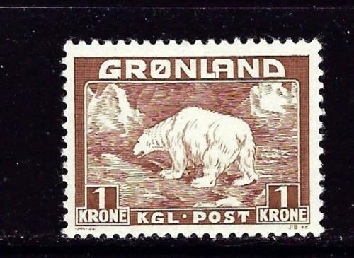 Greenland 9 Lightly Hinged 1938 issue
