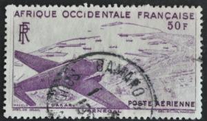 DYNAMITE Stamps: French West Africa Scott #C12 – USED