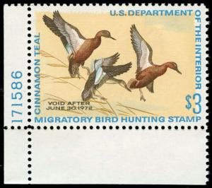 momen: US Stamps #RW38 Duck Mint OG NH XF