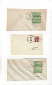 US Naval Covers  USS McDougal, Monocacy & Mugford  All 1930's