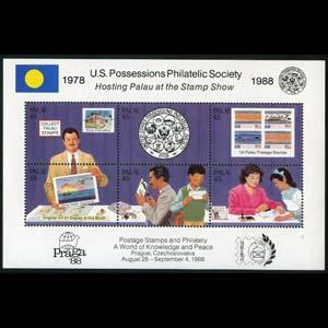 PALAU 1988 - Scott# 197 Sheet-phil.Soc. NH