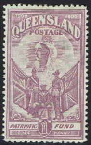 QUEENSLAND 1900 QV BOER WAR CHARITY 1D