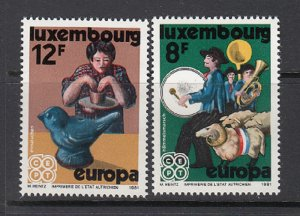 LUXEMBOURG SC# 657-658 MNH
