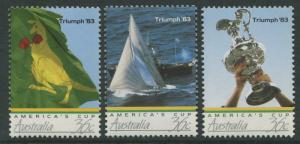 AMERICA'S CUP TRIUMPH '83 - MNH SET OF THREE ISSUED 1986 (B263-RR)