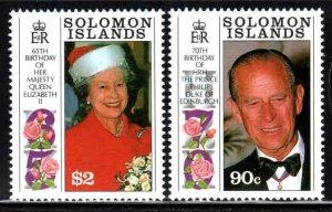 Solomon Islands # 688-89 ~ Cplt Set of 2 ~ Unused, LHM