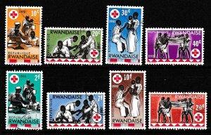 Rwanda 1963 Scott 44-51 Int'l Red Cross CTO