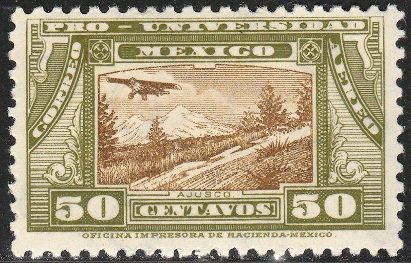 MEXICO C56, 50¢ UNIVERSITY ISSUE. UNUSED, HINGED, OG. VF.