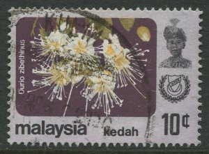 STAMP STATION PERTH Kedah #123a Sultan Abdul Halim Flowers Used 1979