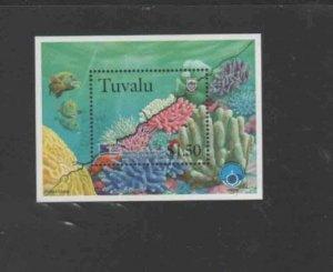 TUVALU #780 1998 MARINE LIFE MINT VF NH O.G S/S