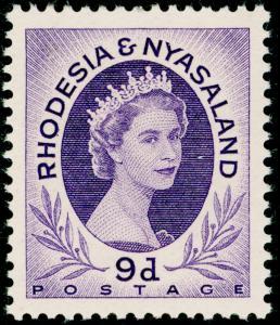 RHODESIA & NYASALAND SG8, 9d violet, M MINT.