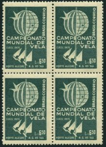 Brazil 898 block/4,MNH.Mi 965. World Championship of Snipe Class Sailboats,1959.