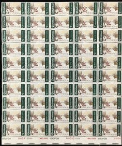 1384   Winter Sunday Christmas   MNH 6c sheet of 50    FV $3.00   Issued in 1969