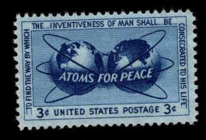 USA Scott 1070 MNH** 3c Atoms for Peace stamp